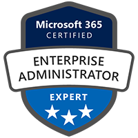 Modern Workplace Enterprise Administrator Expert Badge Exams MS-100 Identity Services MS-101 Mobility Security