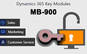 MB-900 Dynamics 365 Key Modules