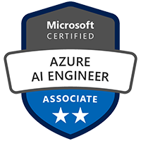 Azure AI Engineer Associate Badge Azure Certification Exam AI-100 Microsoft Azure Artificial Intelligence AI Engineer Certification Training Design Implementation