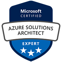 Azure Solutions Architect Expert Badge Azure Certification Exams AZ-300 and AZ-301 Microsoft Azure Role Based Certification Training Azure Solution Architect Certification Training