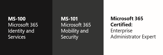 Modern Workplace Expert Microsoft 365 Exam MS-100 Identity and Services MS-101 Mobility and Security Microsoft 365 Certified Enterprise Administrator Expert