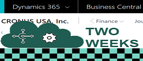 Dynamics 365 Business Central Two Week Expedited Implementation Plan